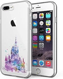 Litech™ Case for Apple iPhone 7 Plus/iPhone 8 Plus [Flexfit] Premium Clear Scratch-Resistant Cute Creative Artistic Design [Wireless Charging Compatible] (Castle)