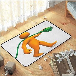 Doormats, For Indoor Indoor Front Door Carpet Bedroom Home Decor Nursery Rugs   Green And Orange Orange Cartoon Character ...