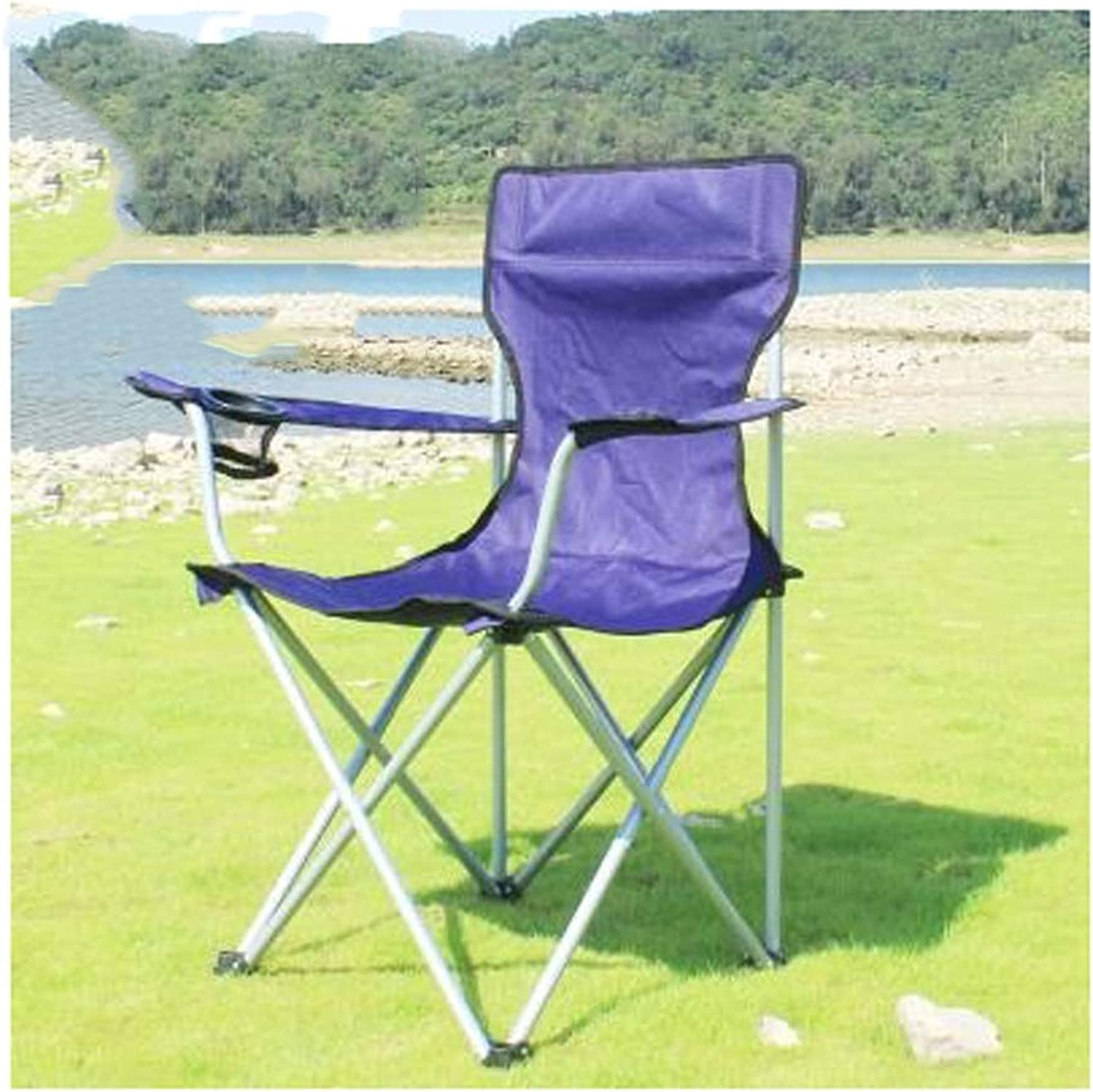 Camping Folding Chair, Purple Outdoor Travel Portable Lightweight Festival Fishing Seat Picnic Beach Hiker Stool