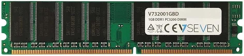 V7 V732001GBD 1GB DDR1 400MHZ CL3 Non ECC DIMM PC3200 2.5VLEG Internal Memory