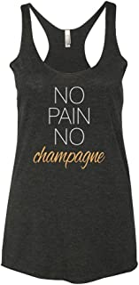 Women's Funny Workout Tank Top | No Pain No Champagne