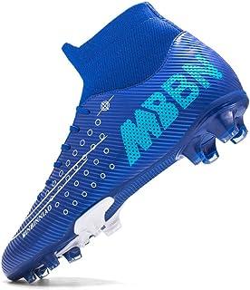 Fotbollsskor för pojkar, höga toppar, andningsfria halkfria fotbollsskor, tonåringar Professionella sneakers