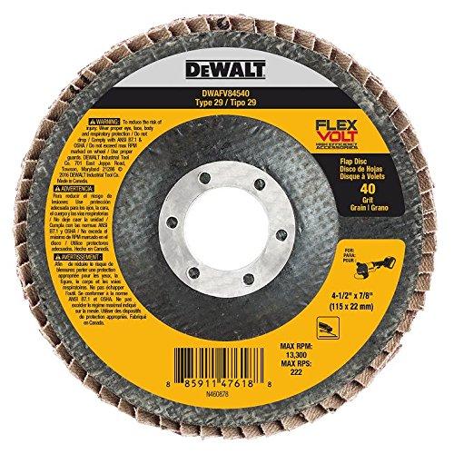 DEWALT DWAFV84540 FLEXVOLT T29 40G Flap Disc, 4-1/2