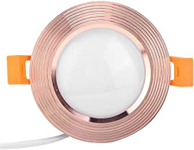 Ceiling Light, 7W AC 85-265V Easy to Install LED Downlight, Smart for Home Wedding(Rose Gold)