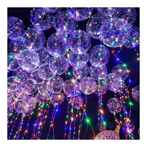ZBM-ZBM Kleurrijke LED verlichte bal Transparant Ins Ballon 18-inch LED decoratieve verlichting voor Kerstmis, Halloween, tuin, terras, party, tuin lichtketting