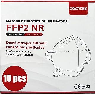 CRAZYCHIC - FFP2 Masker - CE Gecertificeerd EN149 Adembeschermingsmasker - Mondkapje Stofmasker - Hoge Filtratie 5 Lagen A...