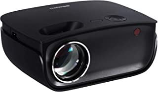 """Devanti Video Projectors 2000 Lumens WIFI 120"""" Projection Size 1080P Full HD Screencast Home Cinema Movies Video Game Outd..."""