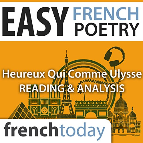 Heureux qui comme Ulysse (Easy French Poetry) audiobook cover art