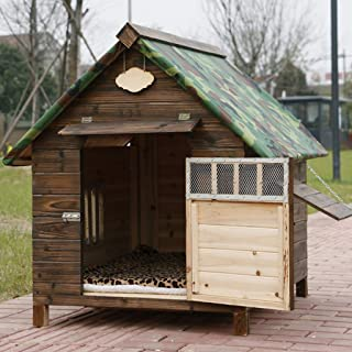 AB pet nest Mascota Nido a Prueba de Lluvia Impermeable al Aire Libre de Madera Maciza carbón de Madera caseta de Perro Perrera Gato Arena para Perros ...