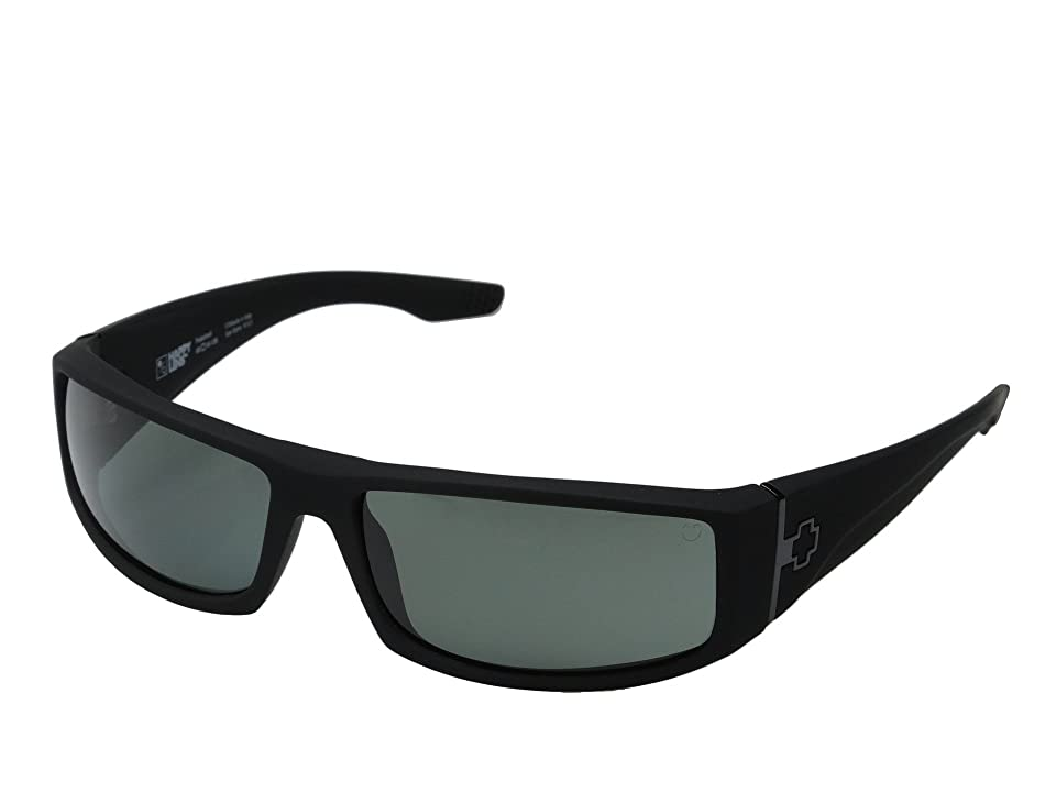 Spy Optic Cooper (Soft Matte Black/Happy Gray Green Polar) Sport Sunglasses