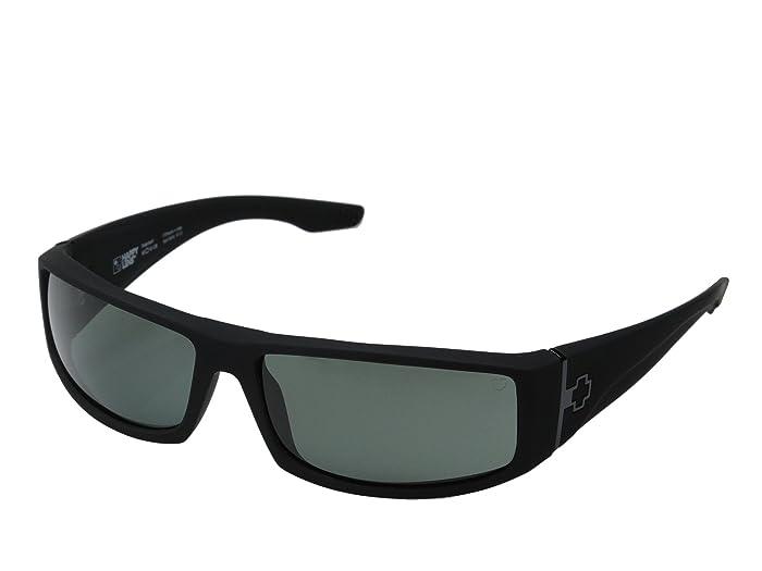 Spy Optic Cooper (Cooper Soft Matte Black HD Plus Gray Green Polar) Sport Sunglasses