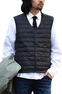 [ハルハム] インナーダウン メンズ ベスト ダウンベスト 軽量 超軽量 防風 防寒 中綿 ライトダウン Vネック 283022