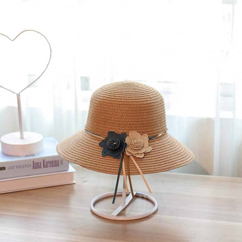 93001c32ac790b Fashion Wide Brim Straw Hat Women Flower Foldable Brimmed Sun Hat Summer  Hats for Women JINRMP Design nzfvrd3953-Sporting goods