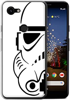 eSwish Gel TPU Phone Case/Cover for Google Pixel 3a XL/Stormtrooper Design/Assault Trooper Helmet Collection