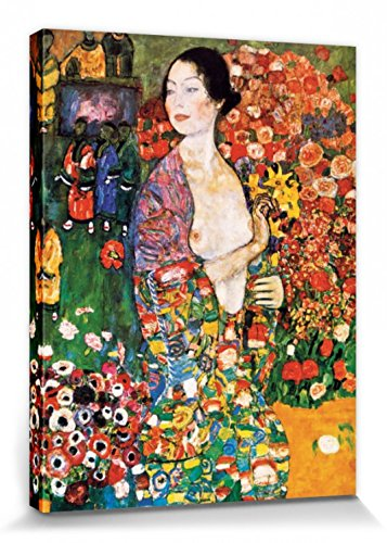 1art1 Gustav Klimt - La Bailarina, 1916 Cuadro, Lienzo Montado sobre Bastidor (80 x 60cm)