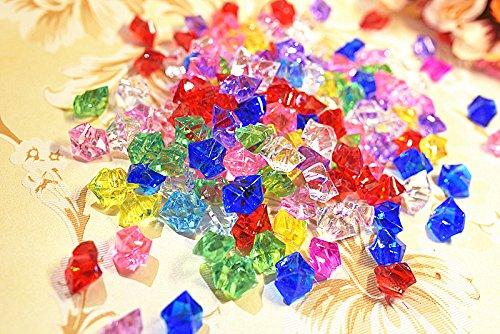 Kesote 50x Glitzersteine Acryl Dekosteine Acrylsteine Glitzernde Diamanten Streudeko für Kinder Piratenschatz Spielzeug Kindergeburtstag Hochzeit Party