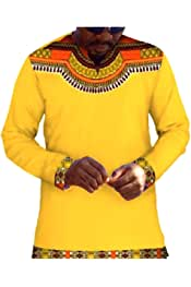 Winwinus Mens Dashiki Navajo Floral V-Neck African Style 1//2 Sleeve Tees Top