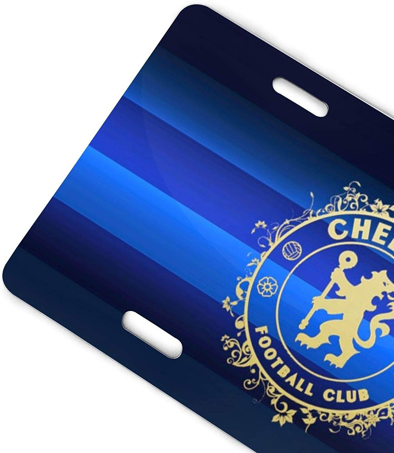 JIHUILAI Real Madrid Footall Team License Plate Cover Aluminum License Plate Soccer Fans Front License Plate 6X12 inches