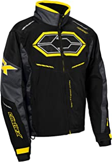 black and yellow snowmobile jackets