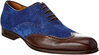 Suede & Leather Oxford, 9, Blue