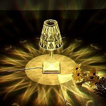 Clmcsf Crystal Diamond Tafellamp, USB Opladen Diamond Tafellamp, Creatieve LED Sfeer lamp, met USB Oplaadpoort Nachtkastla...