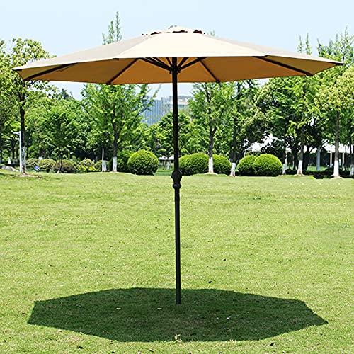 SAMUR Sombrilla para Patio Al Aire Libre de 8.36 Pies, Sombrilla de Jardín, Sombrilla de Playa, Una Variedad de Colores para Elegir