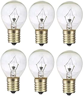 25 Watts S11 Replacement Light Bulb for Lava Lamp 25S11 Incandescent for 14.5 Inch Lava Lamps and Glitter Lamps Fits Intermediate E17 Socket 130 Volts Pack of 6