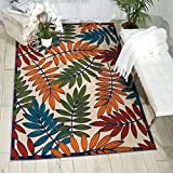 Nourison Aloha Multicolor Indoor/Outdoor Area Rug 5 feet 3 Inches by 7 Feet 5 Inches, 5'3'X7'5'