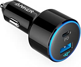 USB C Car Charger, Anker 49.5W PowerDrive Speed+ 2 Car Adapter with One 30W PD Port for MacBook Pro/Air 2018, iPad Pro, iPhone XS/Max/XR/X/8, S10/S9, and One 19.5W Fast Charge Port for S8 and More