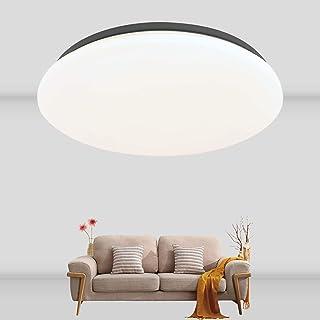 Plafonnier LED Rond Ketom 24W Plafonnier Lampe Blanche Neutre 4000K Lampe de Plafond IP44 2100LM Lampe Plafond pour salle ...