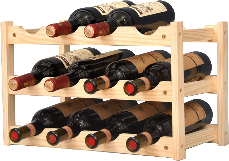 KALINCO Wine low-pricing Rack Racks Free Standing Bo 12 Floor Ranking TOP2
