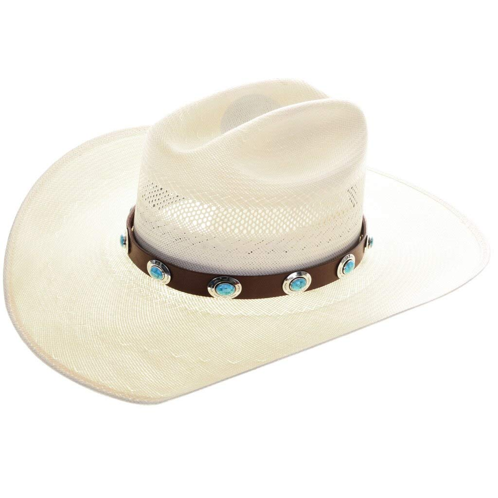 Max 85% OFF Genuine Turquoise Sterling Concho Popular products 0010 Hatband Navajo Design