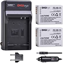DIGIeye NB-10L Battery (2 Pack) and Charger for Canon PowerShot G1 X, G3 X, G15, G16, SX40 HS, SX50 HS, SX60 HS Digital Camera