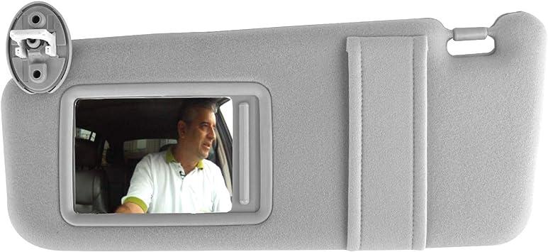 FINDAUTO Car Sun Visor Fit For T-oyota Highlander 2008-2013,Gray Left Driver Side Sun Visor 74320-48500-B0,74320-0E050-B0,74320-0E051-B0