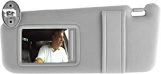 SAILEAD Left Driver Side Sun Visor for Toyota Venza with Sunroof and Light, for Venza 2009 2010 2011 2012 2013 2014 2015 2016, Gray, LH