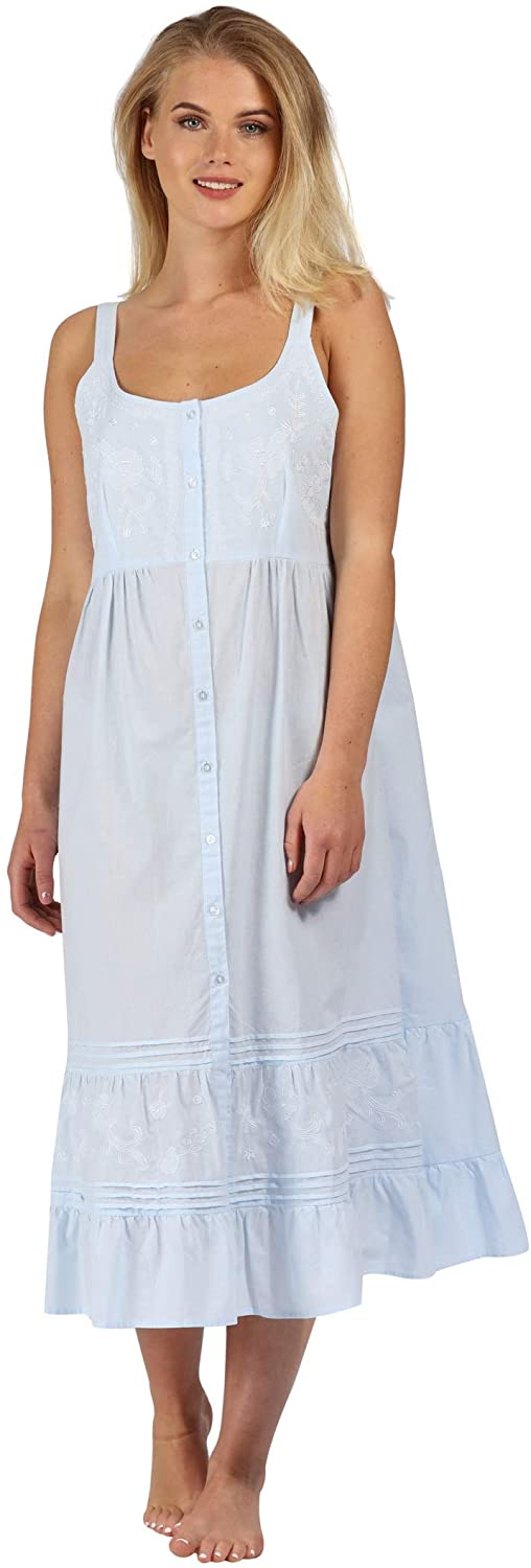 Vintage Nightgowns, Pajamas, Baby Dolls, Robes The 1 for U Ruby 100% Cotton Victorian Sleeveless Nightgown 7 Sizes $46.99 AT vintagedancer.com