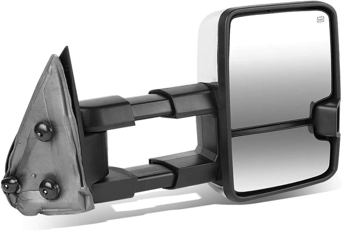 DNA Motoring TWM-030-T999-CH-SM-R Chrome Tow Free shipping Mirror+Heat Powered Complete Free Shipping