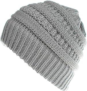 a9e79a4f13635 MJ-Young Winter Hats for Men Women Baggy Warm Crochet Winter Wool Knit Ski  Beanie