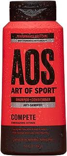 Art of Sport Anti Dandruff Shampoo and Conditioner for Men, Compete Scent, Dry Scalp Shampoo and Dandruff Treatment with Zinc Pyrithione, Coconut Oil and Aloe Vera, Sulfate Free, 13.5 fl oz