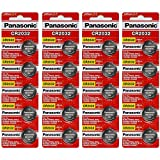 Panasonic CR2032 3 Volt Lithium Coin Battery (20 Batteries)
