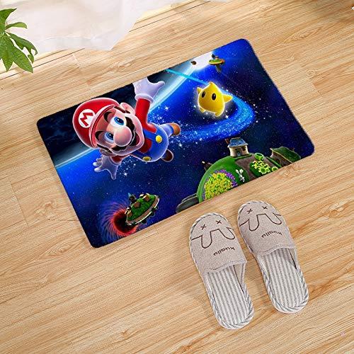 MIAOGOU Super Mario Home Tessile Super Mario Bros Porta Tappeto Ingresso Esterno Tappetino di Benvenuto Tappeto Morbido Zerbino Tappeto da Cucina per Bagno Interno Tappetini