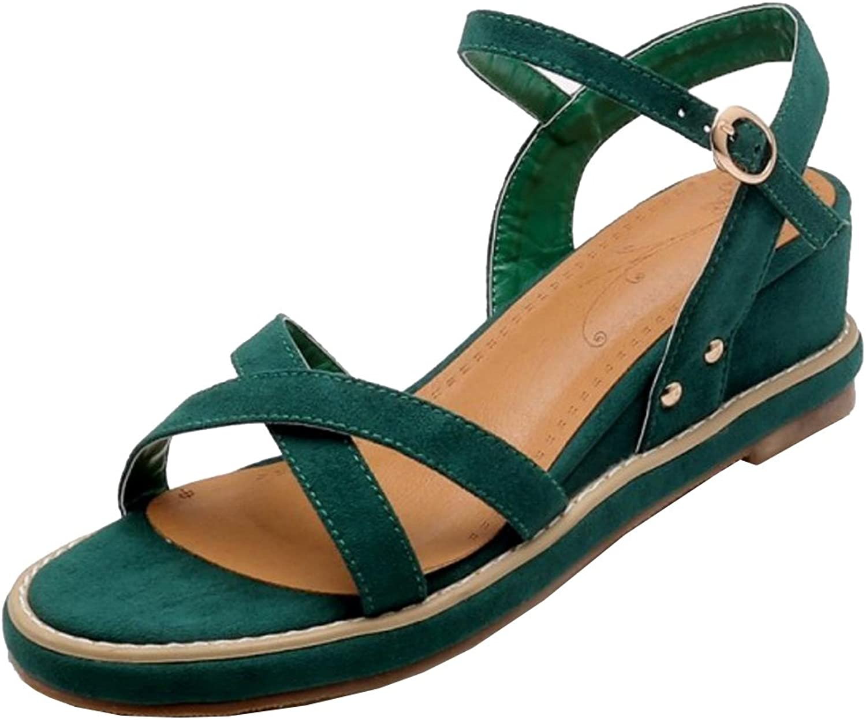 RizaBina Women Retro Wedge Heel Sandals