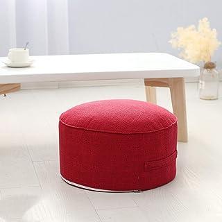 Yuanyou - Cuscino rotondo in spugna ad alta resistenza, per tatami, per meditazione, yoga, Rosso, 40cm x 20cm