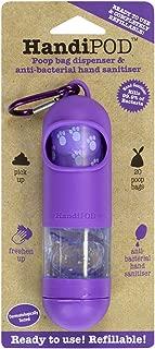 HandiPOD Dog Poop Bag and Hand Sanitizer Dispenser, Purple