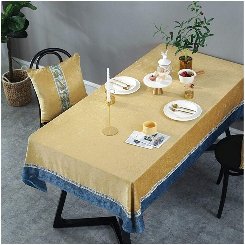 Tovaglie WHQ, Rouomotico ed Elegante Cotone e Lino, Adatto per la Cena tutti'aperto da tavola Tavolo da Pranzo Rettangolare, Gituttio QD (Dimensione   130cm180cm)