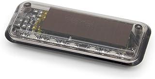 Mercury [盗難防止ステッカー付き] 激薄 ソーラー ダミー カーセキュリティ シーケンシャル発光 LED ライト ランプ 光 流れる青色LEDで車上荒らしのリスクを軽減 防犯グッズ 車 汎用