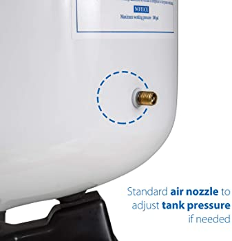 "iSpring T32M Pressurized Water Storage Tank with Ball Valve for Reverse Osmosis RO Systems, 4 Gallon, 1/4"" Tank Valve..."