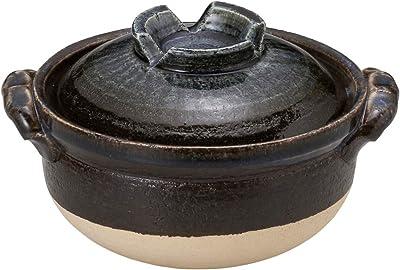 山下工芸 土鍋 陶器 20×φ17×12.5cm(身9cm) 瑠璃釉雑炊鍋 15034820
