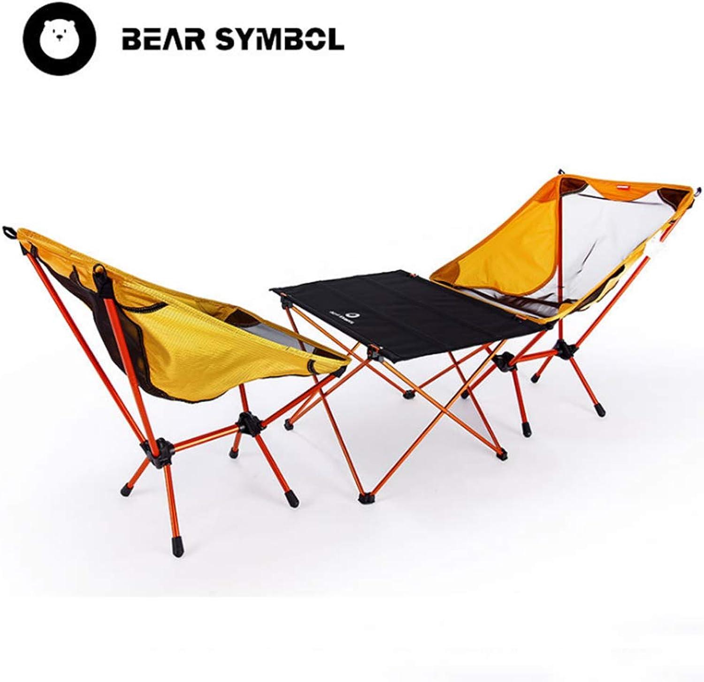 LOO LA Tragbarer Ultralight Camping Chair Picknick-Tisch und Stuhl-Set, Leichtgewicht und Kompakt, Outdoor Hiker, Camp, Beach,SectionB
