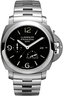 Panerai Luminor 1950 3 Days Black Dial GMT Automatic Stainless Steel Mens Watch PAM00347